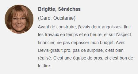 Témoignage avis client Brigitte