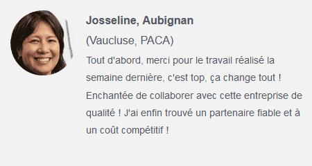 Témoignage avis client Josseline